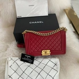 Authentic Chanel Medium Boy Bag